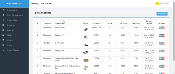 Using a Raspberry Pi for your own Inventory Management